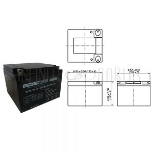 BT-12V-26A-2PCS Sealed Lead Acid Battery 12V 26amp x 2
