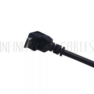 USB-263-01 1ft USB 2.0 A Straight Male to Micro-B Up Angle Cable - Black