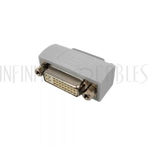 AD-DVI-FF-FH DVI Female to DVI Female Adapter - Fixed Hex Nuts - Infinite Cables