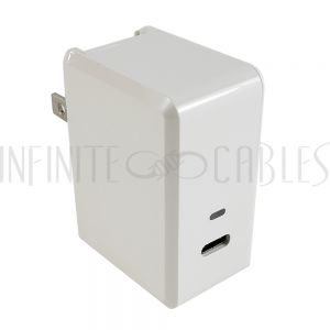 CH-USB-ACC1-WH USB Type C Female To AC (110V) Adapter (5V/3A) - White - Infinite Cables