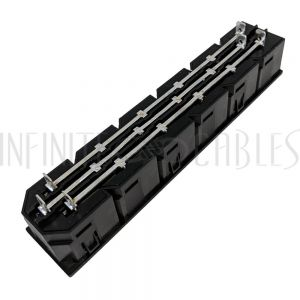 PW-SCL-C13-6T C13 Locking Receptacle - 6 Tier - 6.3mm Terminal, 1.5mm Panel Thickness - Black (IEC-Lock Part #: PA135015BK6) - Infinite Cables