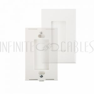 WP-DS1-WH Decora Screw-Less Single Gang Wall Plate - White - Infinite Cables