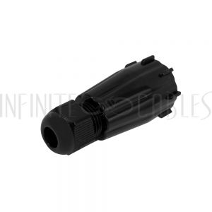 CN-BT-IP68-BK RJ45 IP68 Waterproof Shroud for RJ45 Male Cable - Fits Cable OD of 5mm to 10mm - Black - Infinite Cables