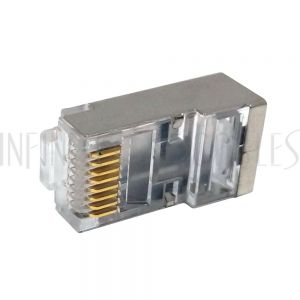 CN-RJ45C6A2S-10 RJ45 Cat6a Shielded Plug with Insert (Solid or Stranded) (8P 8C)- Pack of 10