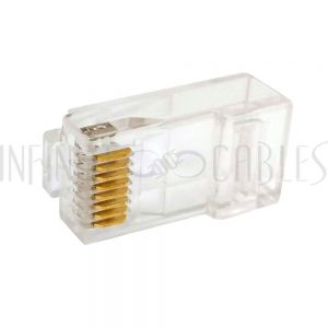 CN-RJ45C6AUT-10 RJ45 Cat6a Plug for Slim Cable (Stranded) (8P 8C)- Pack of 10
