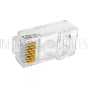 CN-RJ45C6AU-10 RJ45 Cat6a Plug w/ Insert (Solid or Stranded) (8P 8C)- Pack of 10 - Infinite Cables