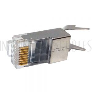 CN-RJ45C7S2-10 RJ45 Cat7 Shielded Plug with Lacing Bar Insert and External Strain Relief (Solid or Stranded) (8P 8C) - 10 pack