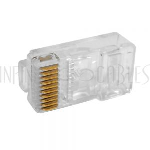 CN-RJ45L-10 RJ45 10-Position Plug for Flat Cable (10P 10C) - Pack of 10 - Infinite Cables