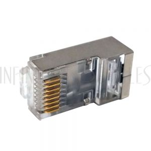 CN-RJ45S-10 RJ45 Cat6 Plug with Insert Shielded for Round Cable (8P 8C) - Pack of 10