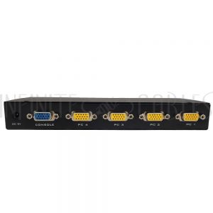 KVM-CD104C 4-Port KVM Switch - VGA/USB with Cables - Infinite Cables