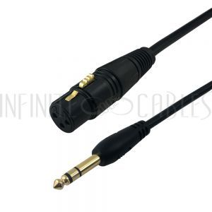 XLR Female to 1/4 Inch TRS Male Cables