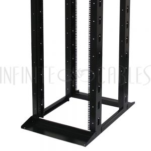 RM-125 Four Post Relay Rack - 19 inch 42U, Square hole, Depth 23-36 inch - Infinite Cables