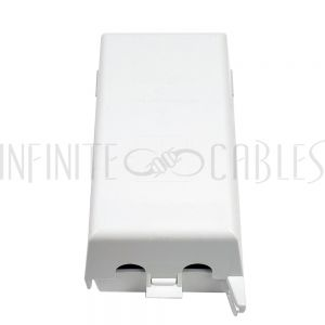 WP-BOX1-OD Outdoor Weather Proof Outlet Box, Single Gang - Vertical - White - Infinite Cables