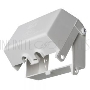 WP-BOX1H-OD Outdoor Weather Proof Outlet Box, Single Gang - Horizontal - White - Infinite Cables