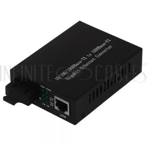 FO-MC2000 10/100/1000 Multimode Media Converter 550m SC (850nm) - Infinite Cables