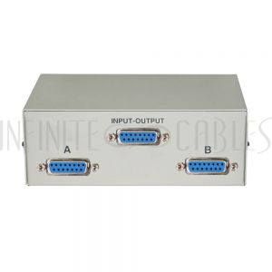 MB-DB15-21 2x1 AB DB15 Manual Switch Box - Infinite Cables