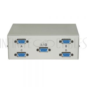 MB-DB9-41 4x1 ABCD DB9 Manual Switch Box - Infinite Cables