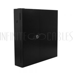 PP-F1500-BK Indoor Wall Mounted Fiber Optic Distribution Box (24 Couplers Maximum) - Black