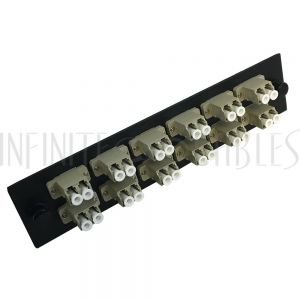 PP-FA108-12BK Loaded Adapter Panel with 12x Duplex LC/PC Multimode - Black - Infinite Cables