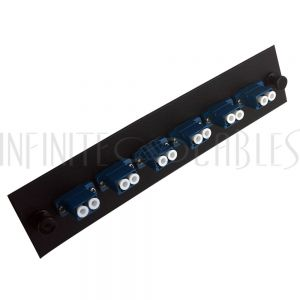 PP-FA208-6BK Loaded Adapter Panel with 6x Duplex LC/UPC Singlemode - Black - Infinite Cables
