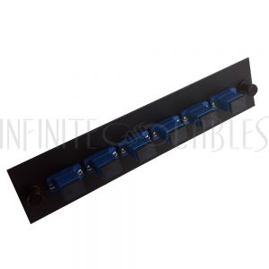 PP-FA604-6BK Loaded Adapter Panel with 6x Simplex SC/UPC Singlemode - Black - Infinite Cables