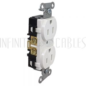 PW-PR1-WH Hubbell Power Receptacle Duplex (15A 125V) - BR15WHI White - Infinite Cables