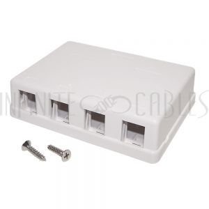 SB-4P-WH Surface Box 4 Port White
