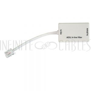 SB-ADSL-WH ADSL In-line Filter - White - Infinite Cables
