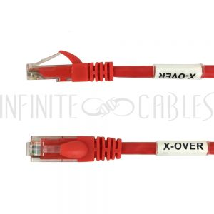 CAT6X2-01RD 1ft RJ45 Cat6 2-Pair Cross-Wired Patch Cable - Red - Infinite Cables