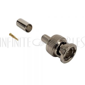 CN-30-734A BNC Male Crimp Connector for RG59 (734A) - Infinite Cables