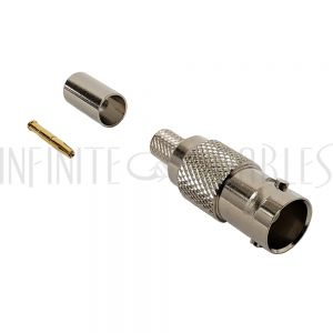 CN-31-734A BNC Female Crimp Connector for RG59 (734A) - Infinite Cables