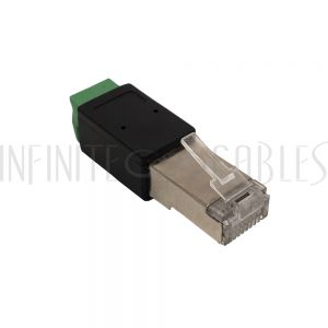 CN-RJ45-SD2B RJ45 Male Plug to 2x Screw Terminal - Infinite Cables