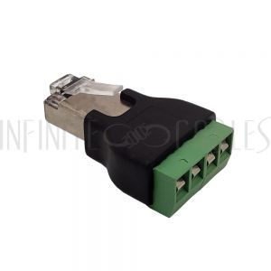 CN-RJ45-SD4B RJ45 Male Plug to 4x Screw Terminal - Infinite Cables