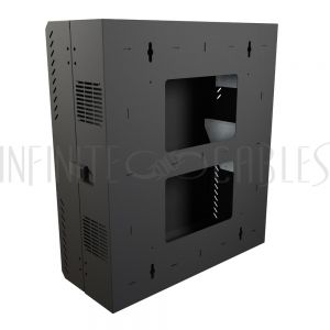 "HLP4U31BK Hammond 4U Vertical Wall Mount Cabinet - Low Profile, 31"" Height - Infinite Cables"