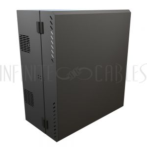 """HLP6U31BK Hammond 6U Vertical Wall Mount Cabinet - Low Profile, 31"""" Height - Infinite Cables"""