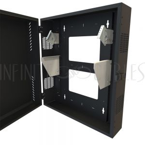 "HLP8U31BK Hammond 8U Vertical Wall Mount Cabinet - Low Profile, 31"" Height - Infinite Cables"