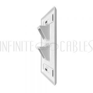 WP-2PA-WH Wall plate, 2-Port Angled Keystone - White - Infinite Cables