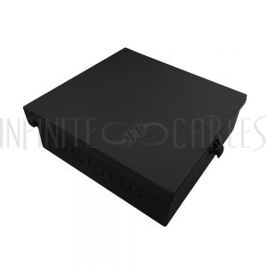 "EB-1111-BK Enclosure Box 11"" x 11"" x 3.5"", Indoor/Outdoor Non-Metallic, NEMA 3R Rated - Black - Infinite Cables"