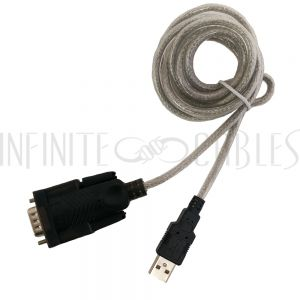 USB-SER-06 6ft USB A Male to DB9 Male Serial Converter - Infinite Cables