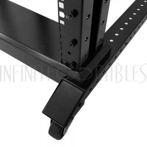 RM-135 Four Post Relay Rack - 19 inch 42U, Square hole, Depth 24-36 inch - Infinite Cables