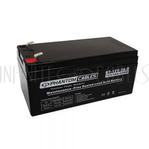 BT-12V-3A-B Sealed Lead Acid Battery 12V 3amp - Infinite Cables