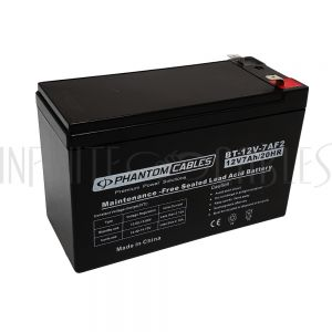 BT-12V-7A-16PCS Sealed Lead Acid Battery 12V 7amp x 16 - Infinite Cables