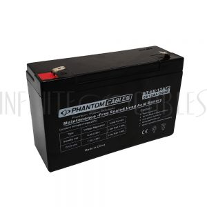 BT-6V-12AF2 Sealed Lead Acid Battery 6V 12amp - Infinite Cables