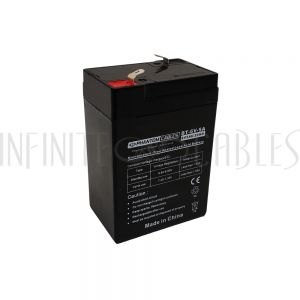 BT-6V-5A-4PCS Sealed Lead Acid Battery 6V 5amp x 4 - Infinite Cables