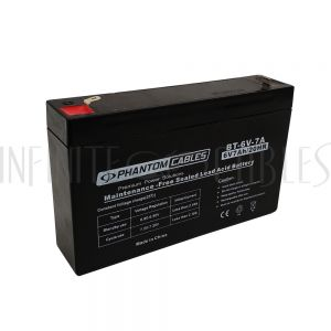 BT-6V-7A-2PCS Sealed Lead Acid Battery 6V 7amp x 2 - Infinite Cables