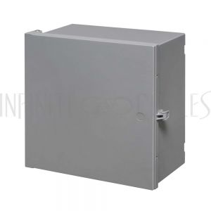"EB-12126-GY Enclosure Box 12"" x 12"" x 6"", Indoor/Outdoor Non-Metallic, NEMA 3R Rated - Grey - Infinite Cables"