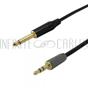 TSM-35MM-01.5 1.5ft Premium Phantom Cables 1/4 inch TS Male to 3.5mm Stereo Male Audio Cable FT4 - Infinite Cables
