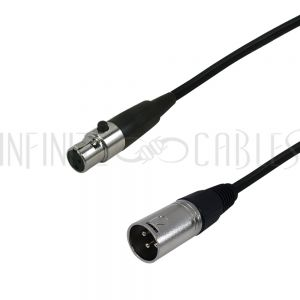 XLR Male to Mini-XLR Female Cables - Premium - Infinite Cables