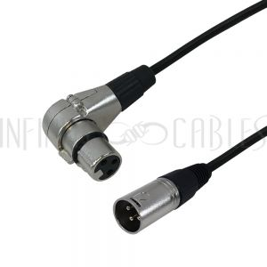 XLR Male To Right Angle Female Cables - Premium - Infinite Cables