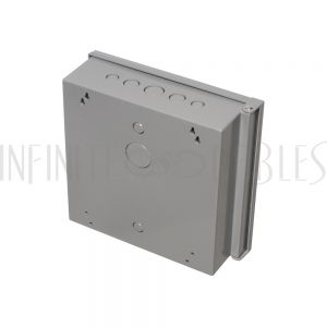 """EB-1111BP-GY Enclosure Box 11"""" x 11"""" x 3.5"""", Indoor/Outdoor Non-Metallic, NEMA 3R Rated with Backplate - Grey - Infinite Cables"""